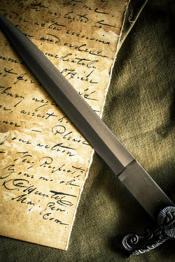 Elisabeth Ansley SILVER DAGGER WITH OLD LETTER Weapons