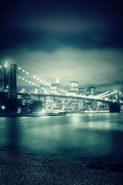 ILINA SIMEONOVA BROOKLYN BRIDGE SHINING AT NIGHT Specific Cities/Towns