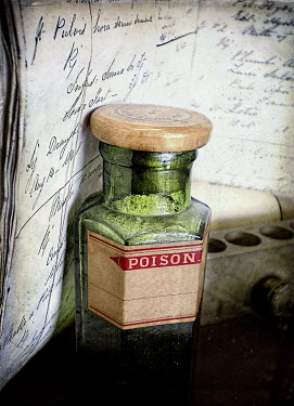 Nic Skerten BOTTLE OF POISON WITH NOTEBOOK Miscellaneous Objects
