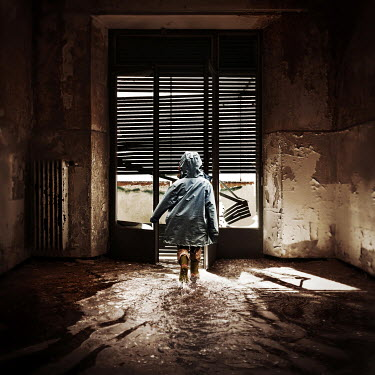 Dragan Todorovic GIRL IN FLOODED DERELICT HOUSE Women