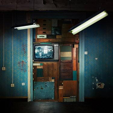 Dragan Todorovic TELEVISION IN SHABBY ROOM Interiors/Rooms