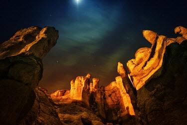 Mashael Hamad AlShuwayer FANTASY LANDSCAPE WITH STARRY SKY Rocks/Mountains