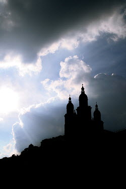 Wojciech Zwolinski SILHOUETTED GRAND PALACE ON HILLTOP Religious Buildings
