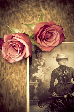 Jitka Saniova PHOTOGRAPH OF WOMAN WITH ROSES Miscellaneous Objects