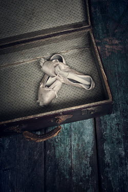 Amy Weiss WORN BALLET SHOES IN SUITCASE Miscellaneous Objects