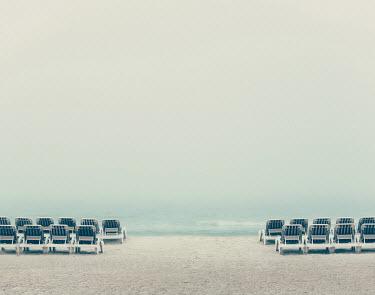 Susan O'Connor CHAIRS ON WHITE SANDY BEACH Seascapes/Beaches