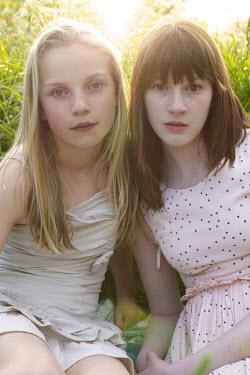 James Walker TWO GIRLS IN SUNLIT MEADOW Women
