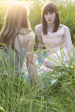 James Walker TWO GIRLS IN SUNLIT MEADOW Children
