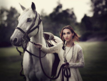 Jessica Drossin GIRL IN COUNTRY WITH HORSE Women