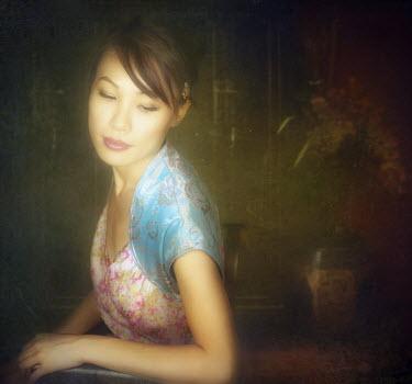 Vanessa Ho PRETTY ASIAN WOMAN LOOKING DOWNWARDS Women