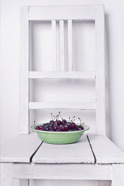 Jitka Saniova BOWL OF CHERRIES ON CHAIR Miscellaneous Objects