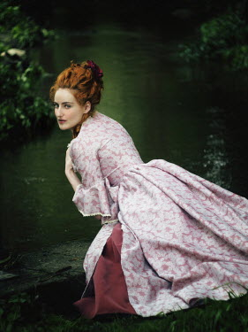 Malgorzata Maj BEAUTIFUL HISTORICAL WOMAN BY RIVER Women