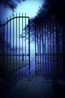 Nic Skerten LARGE IRON GATES AT DUSK Gates