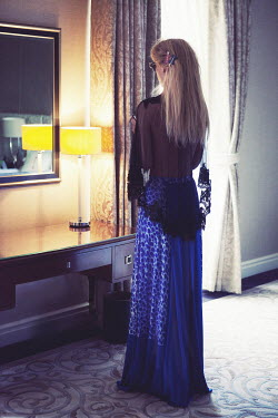 Sarah Louise Johnson WOMAN LOOKING IN MIRROR Women