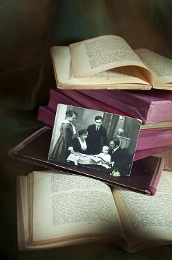 Agnieszka Kielak OLD FAMILY PHOTOGRAPH WITH BOOKS Miscellaneous Objects