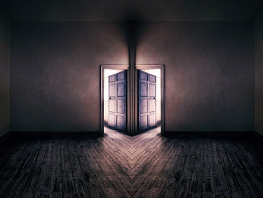 Paul Knight DOOR WITH LIGHT EMERGING Interiors/Rooms