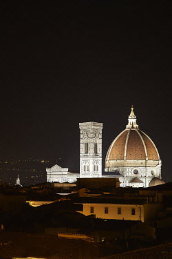 Andy & Michelle Kerry FLORENCE AT NIGHT WITH CATHEDRAL Religious Buildings