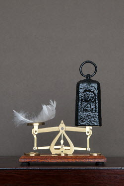 Clayton Bastiani SCALES AND WEIGHT WITH FEATHER Miscellaneous Objects