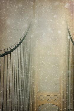 Jude McConkey BRIDGE IN SNOW AND MIST Bridges