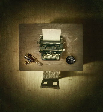 Richard Tuschman DESK WITH TYPEWRITER AND CHAIR Miscellaneous Objects