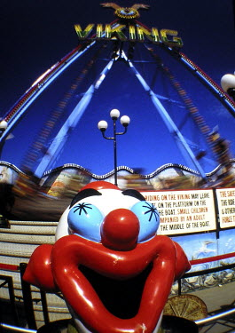 Andy Wilson CLOWN AT AMUSEMENT PARK Miscellaneous Objects