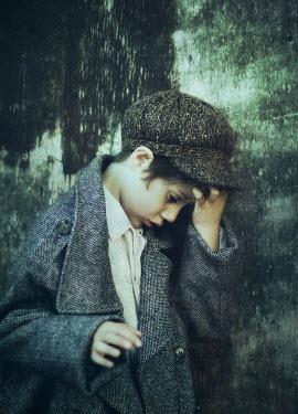 Mark Owen BOY IN TWEED CAP AND COAT Children