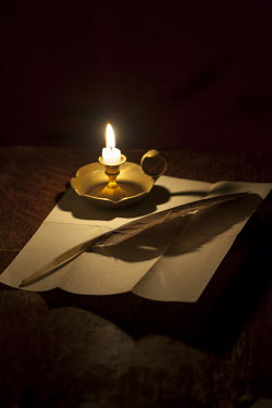 Lee Avison PAPER AND QUILL WITH CANDLE Miscellaneous Objects