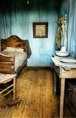 Jill Battaglia BEDROOM INTERIOR OF OLD HOUSE Interiors/Rooms