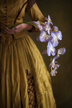 Lee Avison VICTORIAN WOMAN WITH ORCHIDS Women