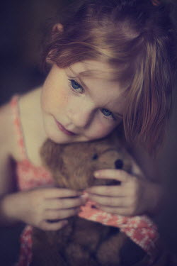 Jessica Drossin LITTLE GIRL WITH TEDDY BEAR Children