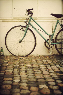 Irene Lamprakou FRONT WHEEL OF GREEN BICYCLE Miscellaneous Objects