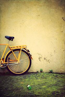 Irene Lamprakou REAR WHEEL OF YELLOW BICYCLE Miscellaneous Objects
