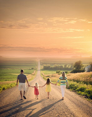 Jake Olson FAMILY WALKING DOWN COUNTRY ROAD Couples