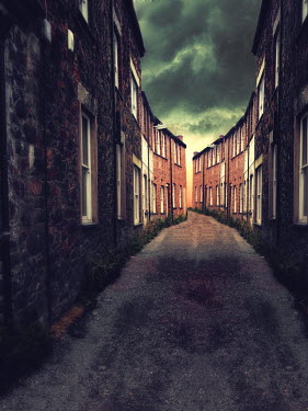 Elisabeth Ansley ALLEYWAY WITH BUILDINGS EITHER SIDE Streets/Alleys