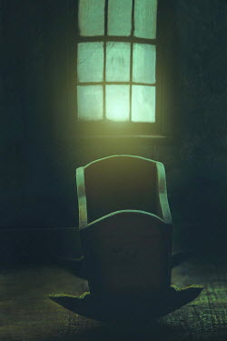 Sandra Cunningham ABANDONED WOODEN CRADLE BY WINDOW Miscellaneous Objects