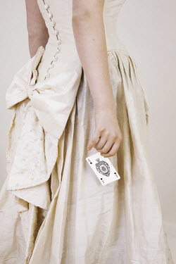 Victoria Davies HISTORICAL WOMAN HOLDING ACE CARD Women