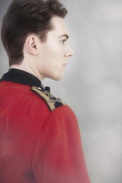 Victoria Davies HANDSOME MAN IN MILITARY UNIFORM Men