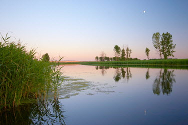 Vitali Bolucevschi CALM TRANQUIL RIVER AT SUNSET Lakes/Rivers