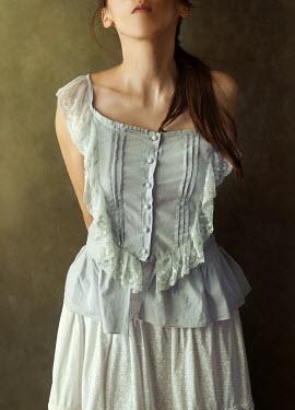 Agnieszka Kielak TEENAGE GIRL IN VICTORIAN DRESS Women