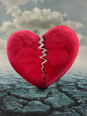 Peter Hatter BROKEN HEART ON CRACKED ROAD Miscellaneous Objects