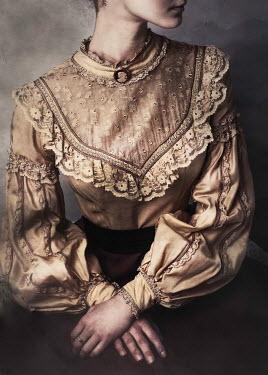 Karolina Kumorek VICTORIAN WOMAN IN LACE BLOUSE Women
