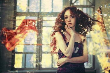 Ilona Shevchishina WOMAN IN SUN FILLED ROOM Women