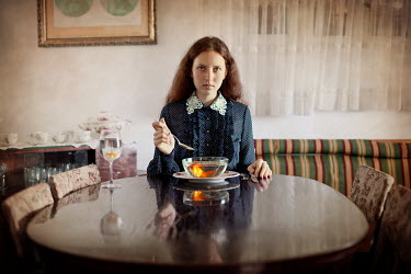 Pini Hamou WOMAN AT DINING TABLE Women