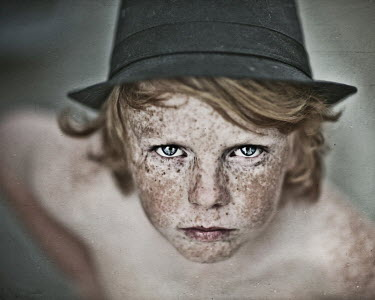 Tracie Taylor BOY WITH FRECKLES IN TRILBY Children