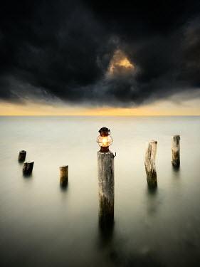 Paulo Dias OIL LAMP ON POST Lakes/Rivers