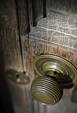 Adrian Muttitt OLD WOODEN DOOR AND KNOB Miscellaneous Objects