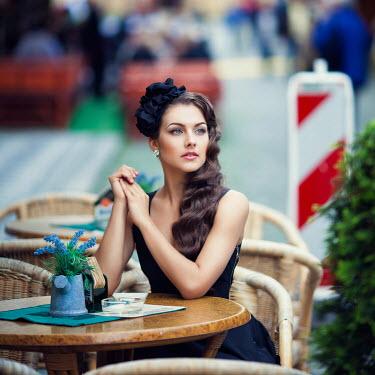 Margarita Kareva WOMAN SITTING IN CAFE Women