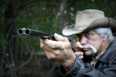 Stephen Carroll OLD COWBOY WITH SHOTGUN Old People
