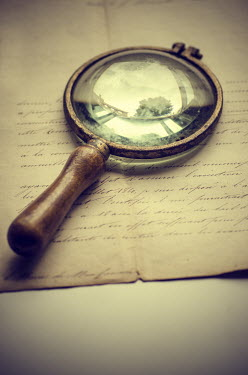 Mohamad Itani OLD MAGNIFYING GLASS AND LETTER Miscellaneous Objects
