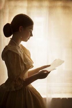 Lee Avison HISTORICAL WOMAN READING LETTER Women